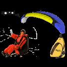 Opale Rc Paraglider Kit - Spiral 1.2R Blue